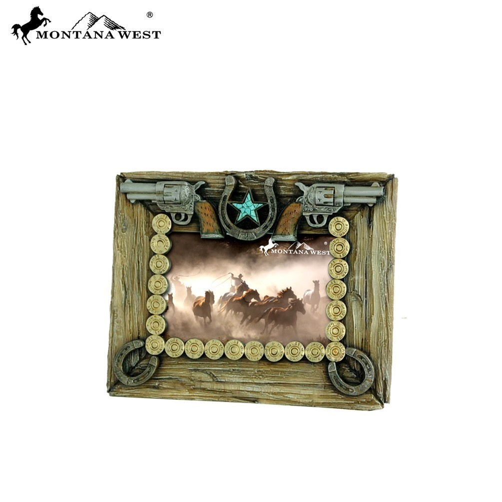 Double pistol picture frame