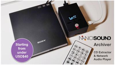 *NEW* NanoSound Archiver - Auto CD Extractor & Player