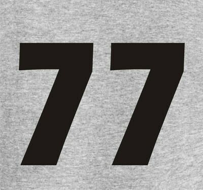 Vinyl Number added to Sweatshirt or T-shirt