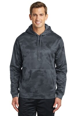 Sport-Tek® Sport-Wick® CamoHex Fleece Hooded Pullover Youth and Adult With BumbleBee design on Full Front