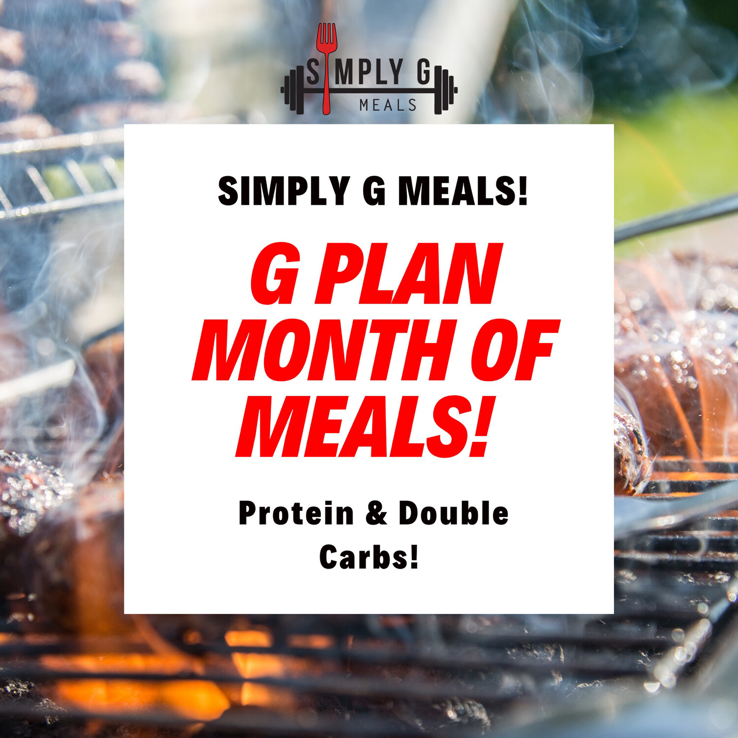G PLAN MONTH OF MEALS (40 Meals) +5 DONATED MEALS