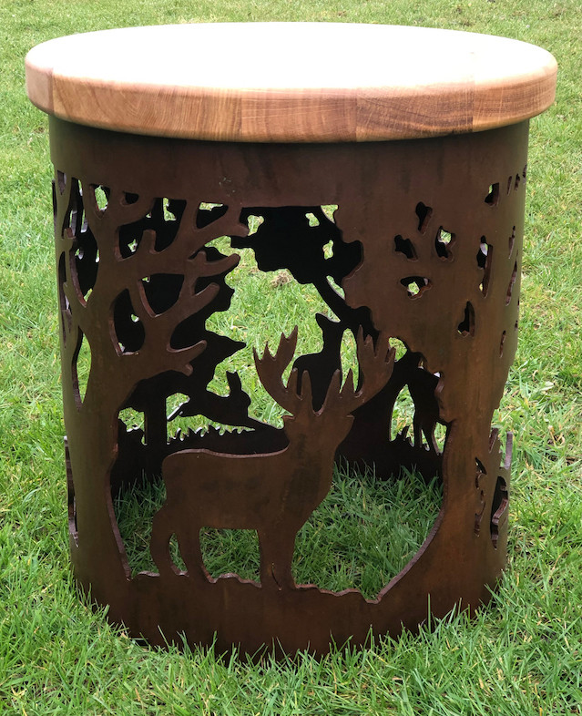 Carved Stool - English Country Design