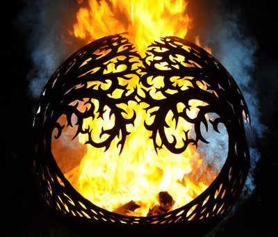 900mm Tree of Life Sphere Firepit