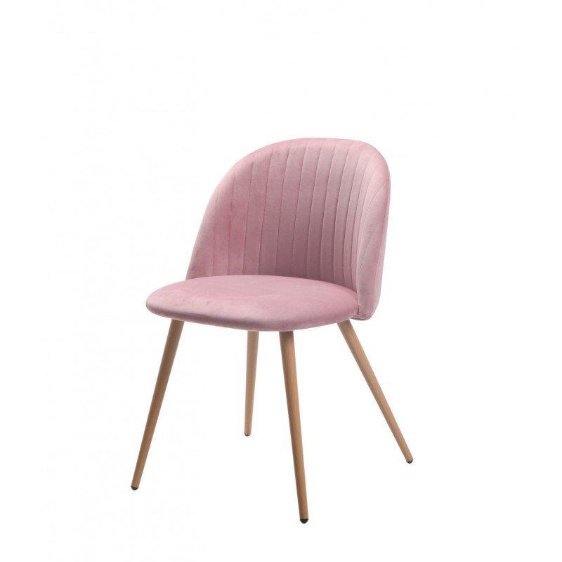 Cadira Velvet Rosa