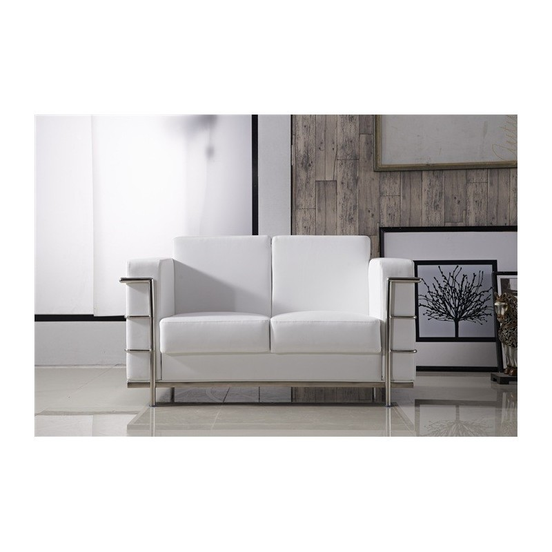 Sofa Duval Blanc 2 places