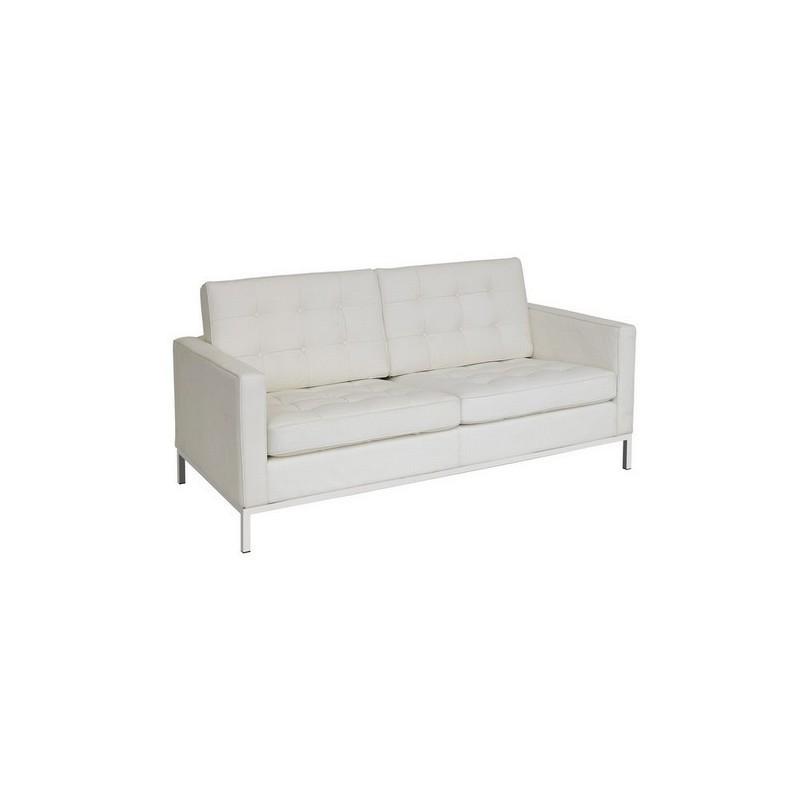 Sofa Flor Blanc 2 places