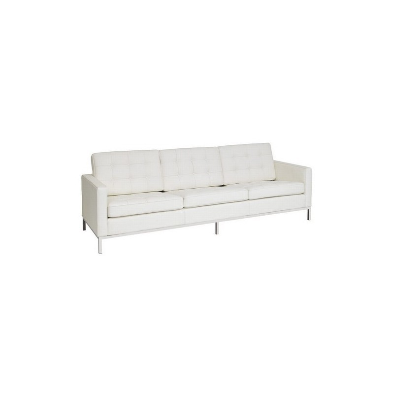 Sofa Flor Blanc 3 places