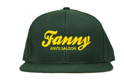 Green Hat & Yellow Embroidery