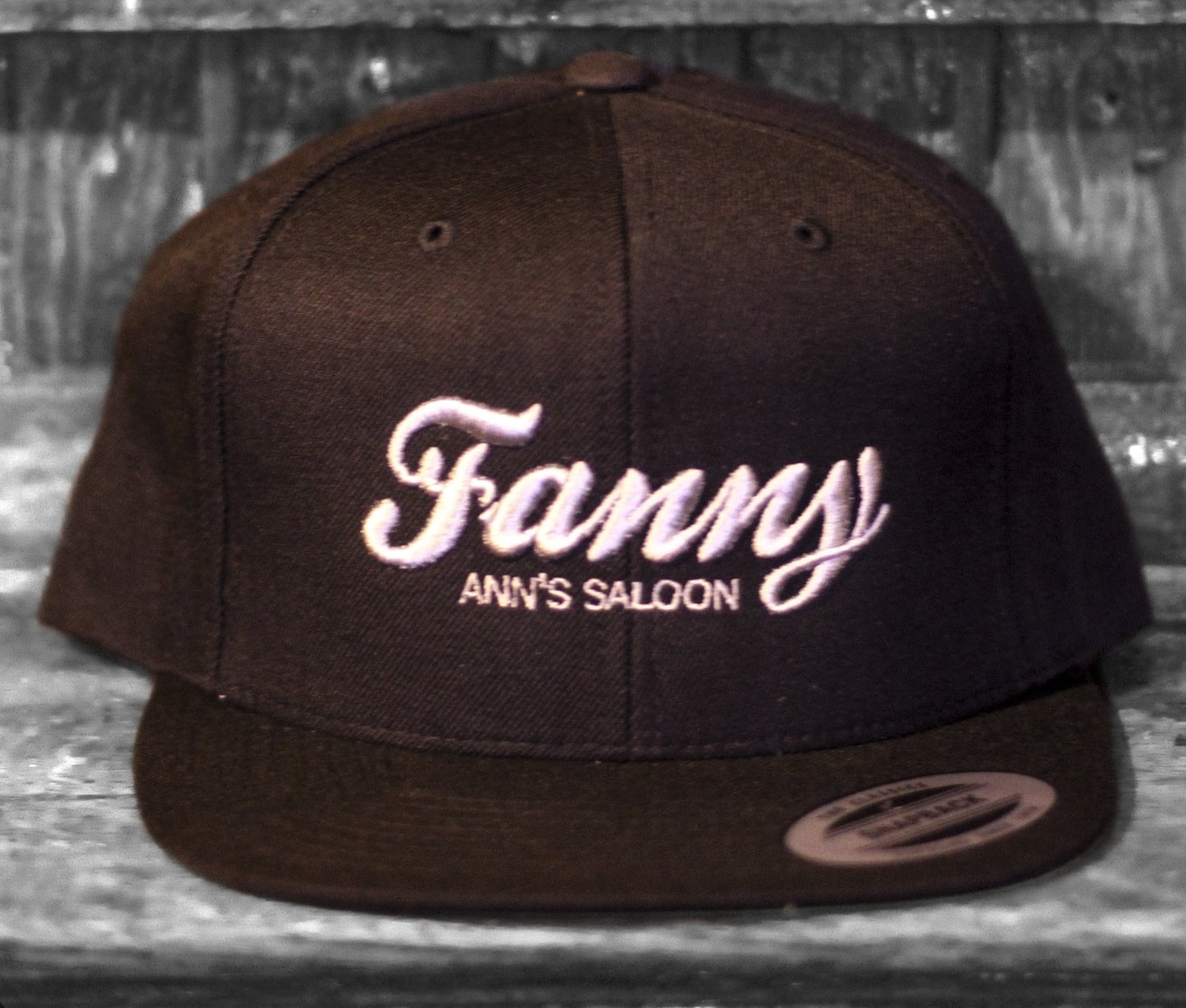Silver and Black Embroidered Hat