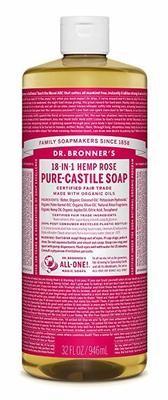 Dr. Bronner's - Savon Liquide de Castille Chanvre Rose bio équitable 946ml