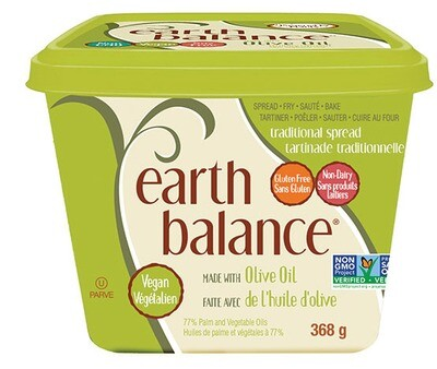 Earth Balance - Tartinade traditionnelle à l'huile d'olive Sans OGM 368g