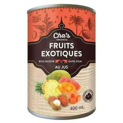 Cha's - fruit exotique en morceaux jus bio 400ml