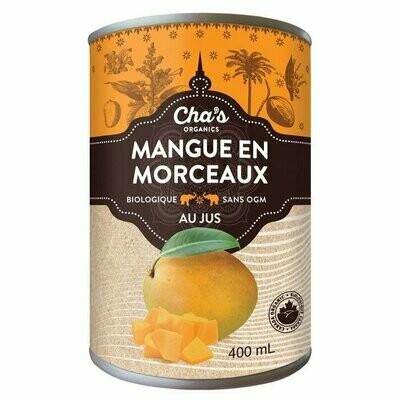 Cha's - Mangue en morceaux jus bio 400ml