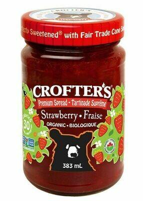 Crofters – Tartinade fraise premium biologique Grand format 383ml