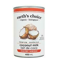 Earth's Choice - Lait de coco superieur biologique