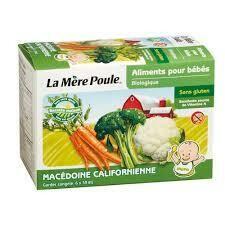 La Mere poule - Puree macedoine californiene legume 6x59ml