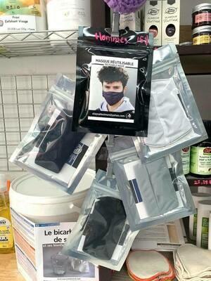 Masque en tissu reutilisable pour le visage (Homme)