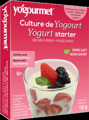 Yogourm - Culture de yogourt sans lait non-ogm 2 x 3g