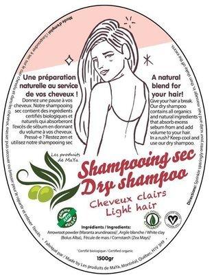 Les produits de MaYa - Shampooing sec pour cheveux clairs enveloppe compostable