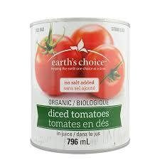 Earth's choice - Tomates en dés bio 796ml