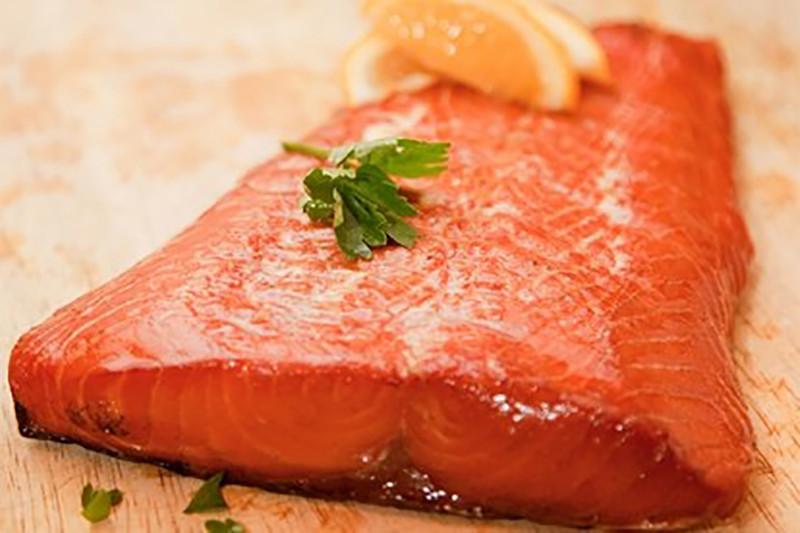 Green Tea Infused sMoked Salmon