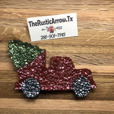 Truck W/ Christmas Tree, Car Air Fresher, Car Candle, Air Freshener For Your Car, Freshie, Car Scents