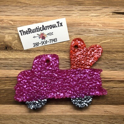 Truck W/ Heart, Car Air Fresher, Car Candle, Air Freshener For Your Car, Freshie, Car Scents