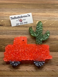 Truck W/ Cactus, Car Air Fresher, Car Candle, Air Freshener For Your Car, Freshie, Car Scents