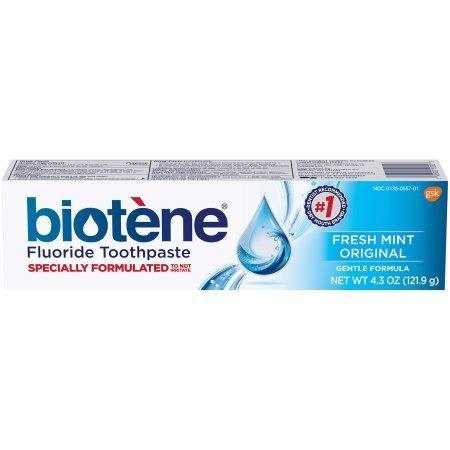 Biotene FRESH MINT Toothpaste 127ml معجون الأسنان بيوتين لجفاف الفم بالنعناع المنعش