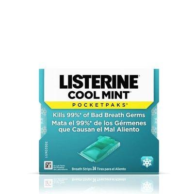 LISTERINE Cool Mint Breath Strips PK of 1 شرائط النعناع الأزرق المنعش