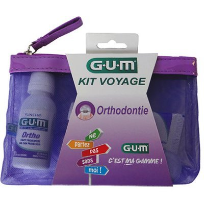 GUM Travel Kit Braces مجموعة التقويم