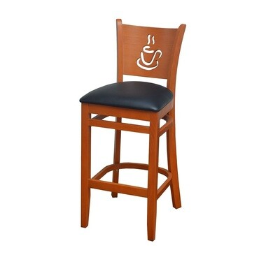 Coffee Cup Wood Barstool