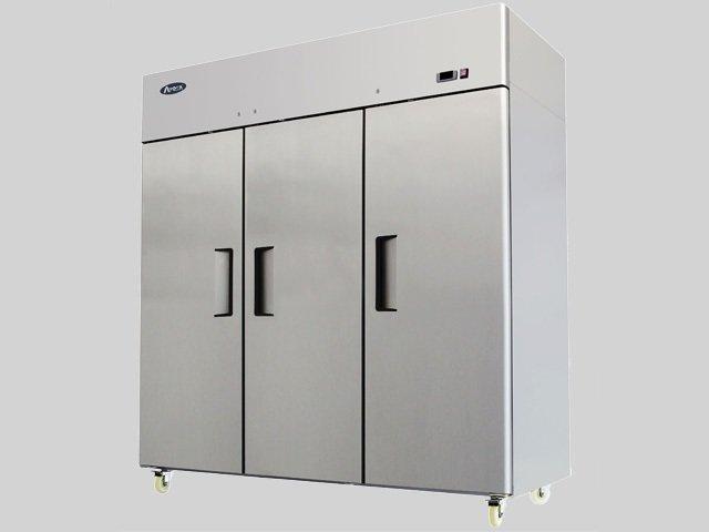 Top Mount (3) Three Door Stainless Steel Refrigerator