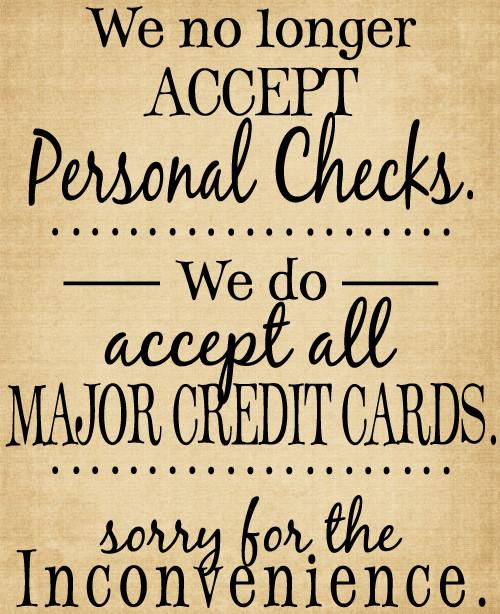 CHI011 We not longer accept