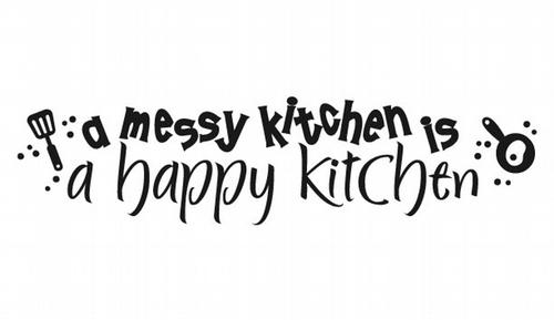KW112 A messy kitchen