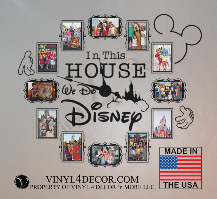 In this house... We do Disney decal wall clock CL333USA Mechanism)