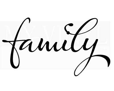 FA013 Family decal vinyl sticker