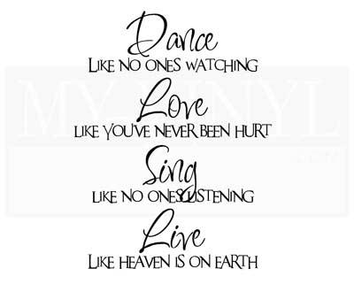 D003 Dance like no ones watching