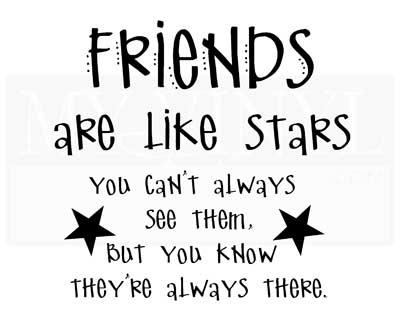 FR011 Friends are like stars farmhouse decor