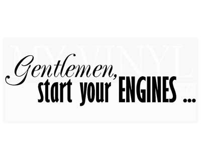CT037 Gentlemen, start your engines...