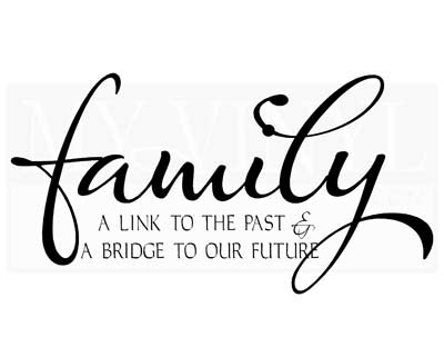 FA033 Family A link to the past and a bridge to our future