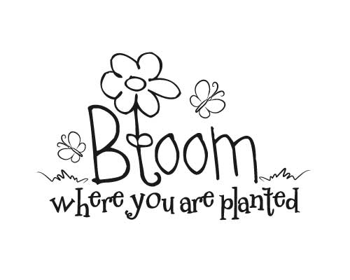 KW183 Bloom where you are planted