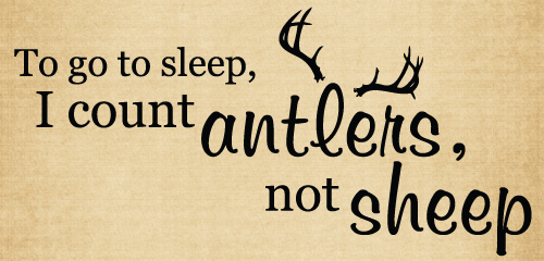 BM072 To go to sleep I count antlers farmhouse decor vinyl stickers