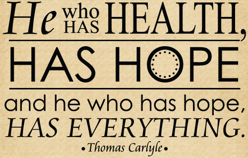 DOC117 He who has health, has hope