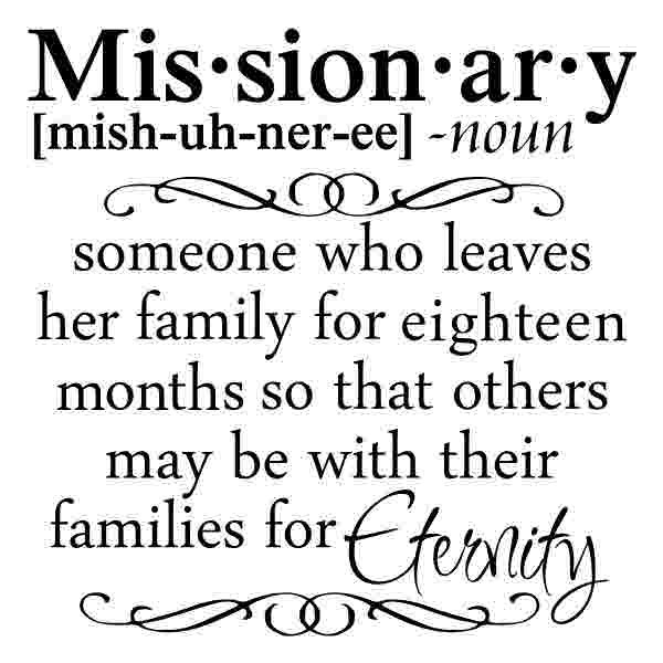 CL101 Missionary Definition (sister) decal vinyl sticker decal