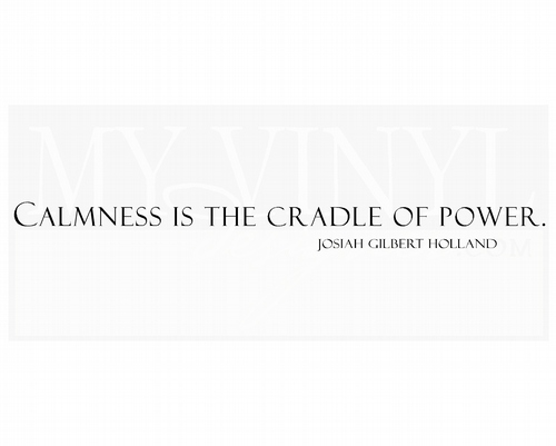 IN005 Calmness is the cradle of power