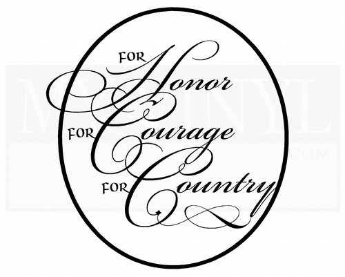 PA016 For honor for courage for country