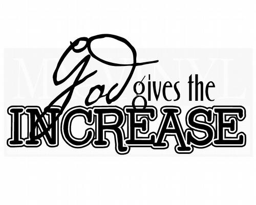 G009 God gives the increase