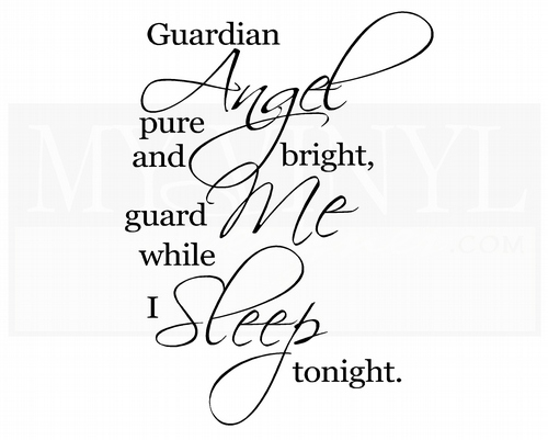 C026 Guardian Angel pure and bright, guard me while I sleep tonight