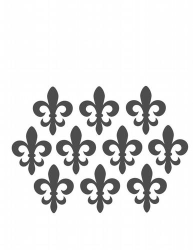BC317 Simple Fleur de Lis Group